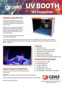 Gen3 UV Booth